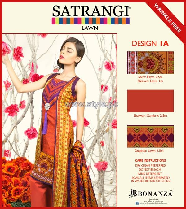 Bonanza Satrangi Lawn Dresses 2014 For Women 5