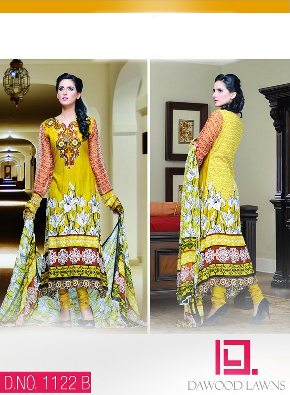 Dawood Textiles Aalishan Chiffon Lawn Dresses 2014 Volume 1 For Women 995