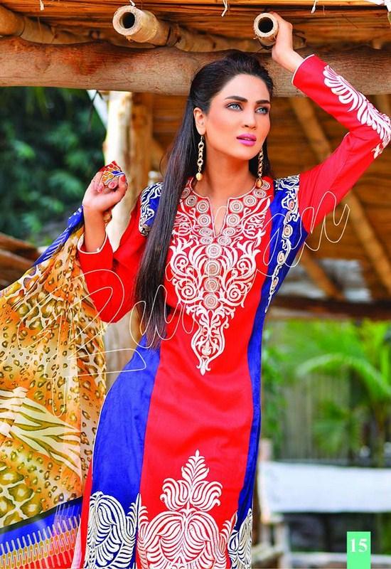 Rujhan Fabric Spring Dresses 2014 Volume 2 For Women 0015
