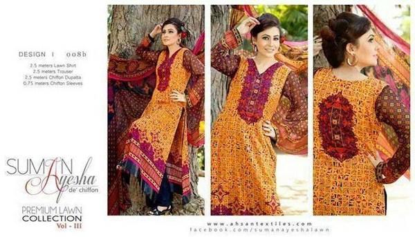 Suman Ayesha Lawn Dresses 2014 Volume 3 For Women 006