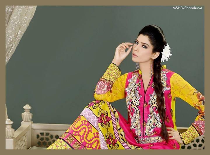 Lala Mashaal Embroidered Dresses 2014 Volume 3
