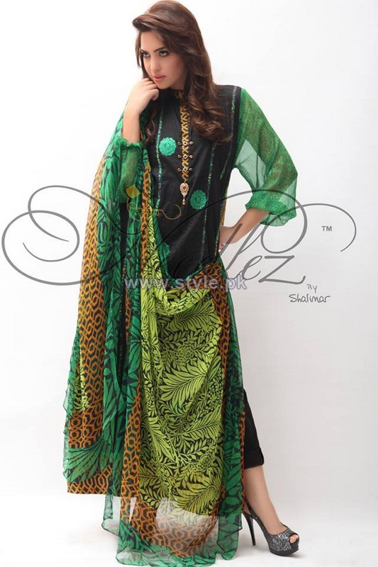 Needlez by Shalimar Party Dresses 2014 For Girls 3