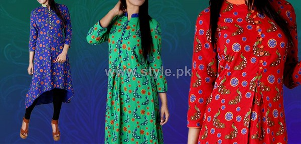Yellow Casual Wear Dresses 2014 For Girls 4