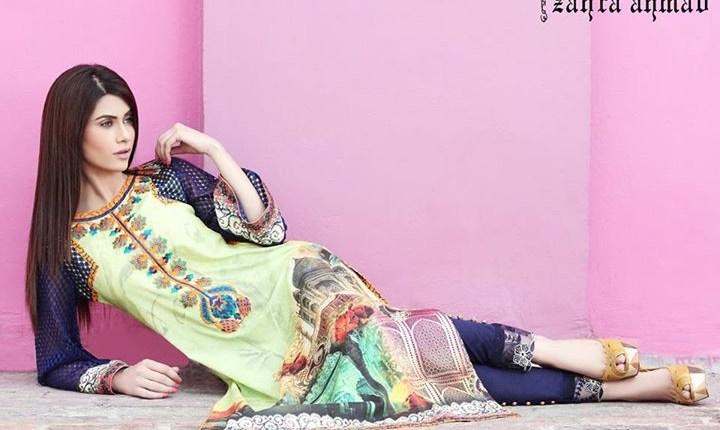 Zahra Ahmad Lawn Dresses 2014 for Women