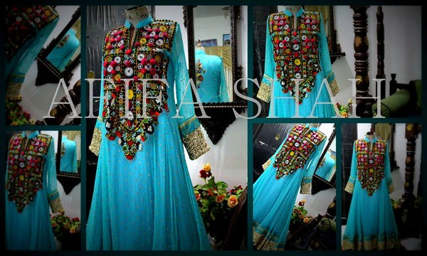 Afifa Shah Summer Dresses 2014 For Women 003