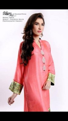 Flairs by Naureen Fayyaz Summer Dresses 2014 for Women005