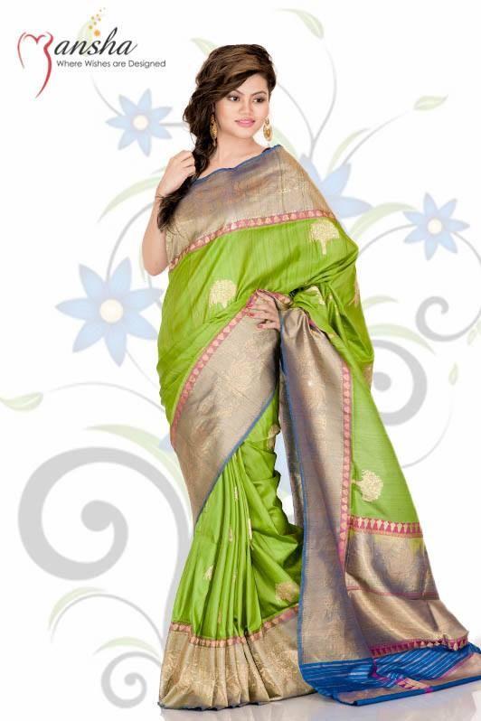 Mansha Sarees Collection 2014 For Women 004