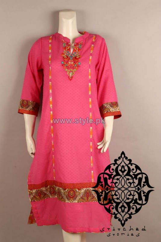 Stitched Stories Summer Dresses 2014 For Girls 1