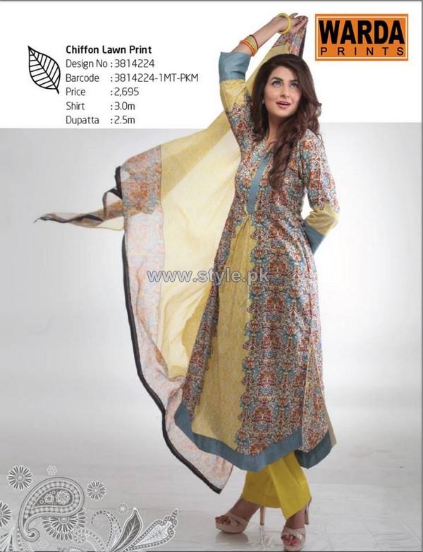 Warda Designer Lawn Dresses 2014 Volume 2 7