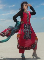 Dicha Embroidered Lawn Dresses 2014 For Eid 2