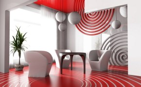 Home Office Designs With Red Accents 0010