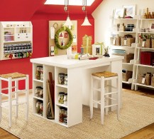 Home Office Designs With Red Accents 005