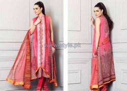 Nadia Hussain Embroidered Eid Dresses 2014 by Shariq Textiles 4