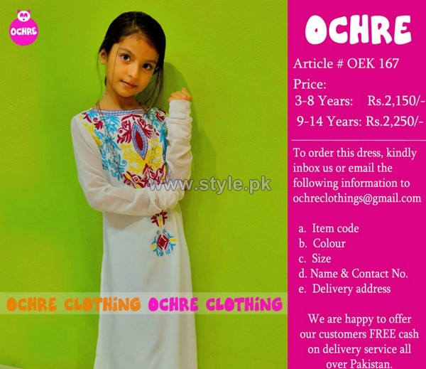 Ochre Clothing Eid Dresses 2014 For Girls 5