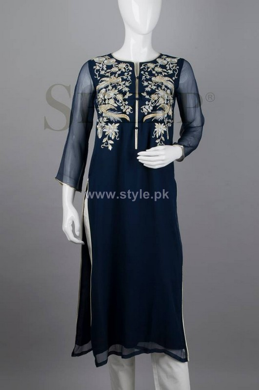 Sheep Embroidered Dresses 2014 For Eid 4