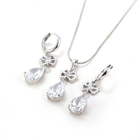 Trend Of White Gold Necklace For Women 002