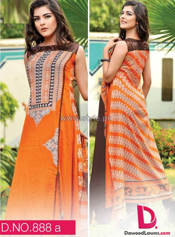 Dawood Classic Lawn Dresses 2014 For Mid Summer 10