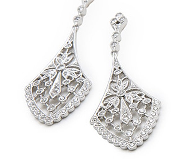 Designs Of Diamond Earrings 2014 For Women 0014