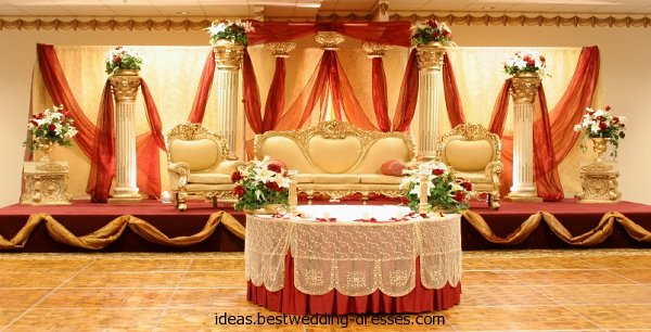 Mehndi And Barat Stage Decoration Ideas 005