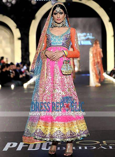 Multi Color Pakistani Bridal Dresses 2014 For Women 005