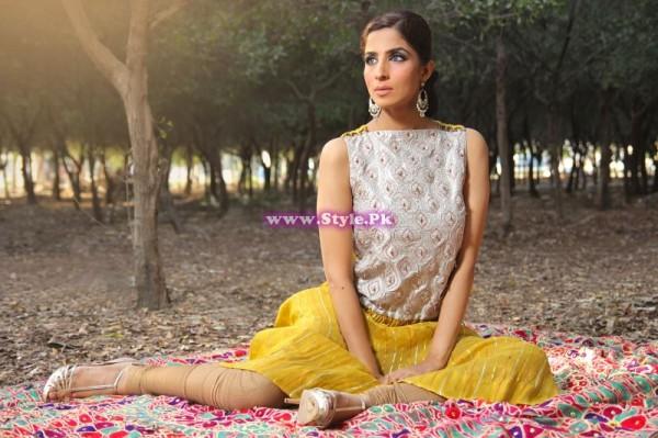 Nazish Kalani Fashion Designer Dresses 2014