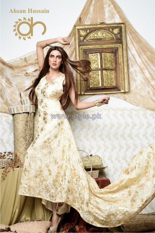 Ahsan Hussain Gold Line 2014 For Women 4