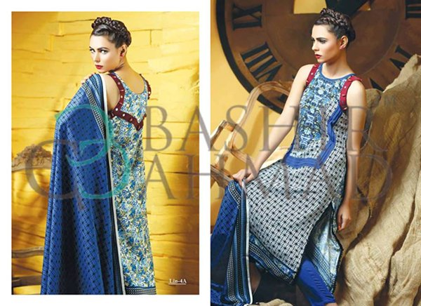 Bashir Ahmad Textiles Linen Dresses 2014 For Women 002