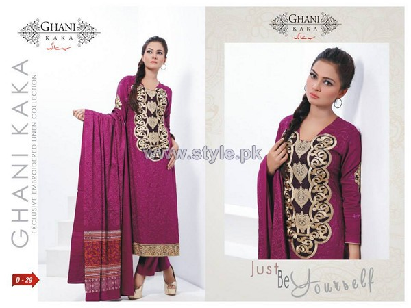 Ghani Kaka Linen Dresses 2014-2015 For Winter 6