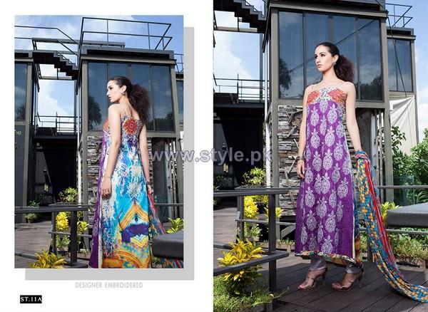 Mavi Designer Winter Dresses 2014 By Shariq Textiles 7