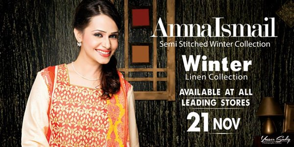 Amna Ismail Winter Dresses 2014 For Women 001