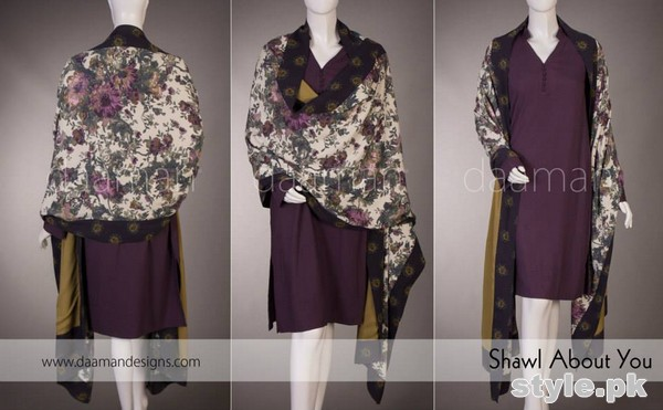 Daaman Winter Dresses 2014-2015 For Girls and Women 4
