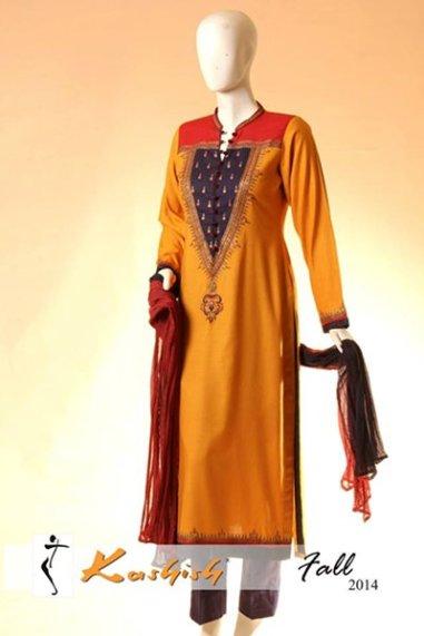 Kashish Winter Dresses 2014 For Women 006