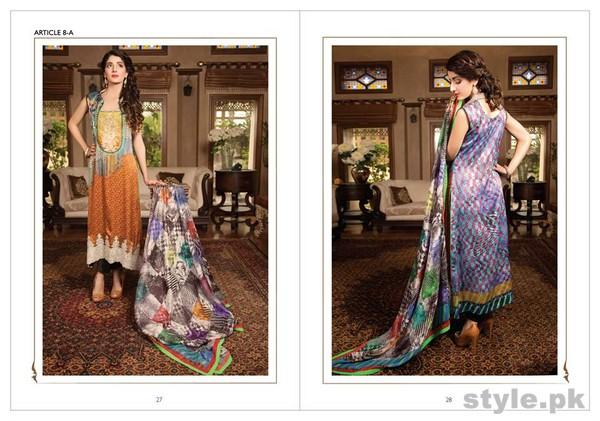 LSM Fabrics Rosette Digital Print Dresses 2014 For Women 10