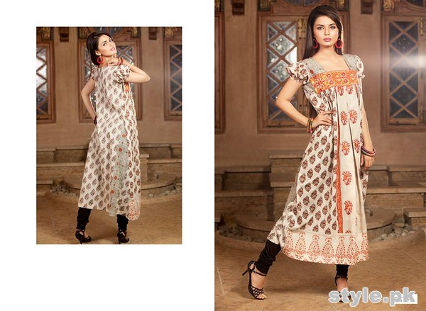 Rabea Kurti Collection 2014 by Shariq Textiles 10