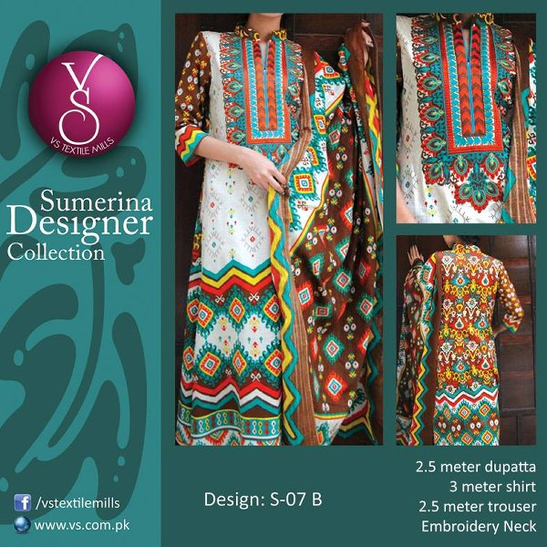 VS Textile Mills Autumn Dresses 2014 For Women 004