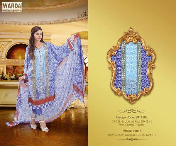 Warda Designer Silk Dresses 2014 For Women