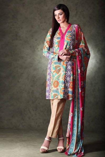 Khaadi Linen Dresses 2015 For Women 004