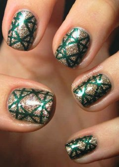 Latest Nail Art Designs 2014 For New Year 003