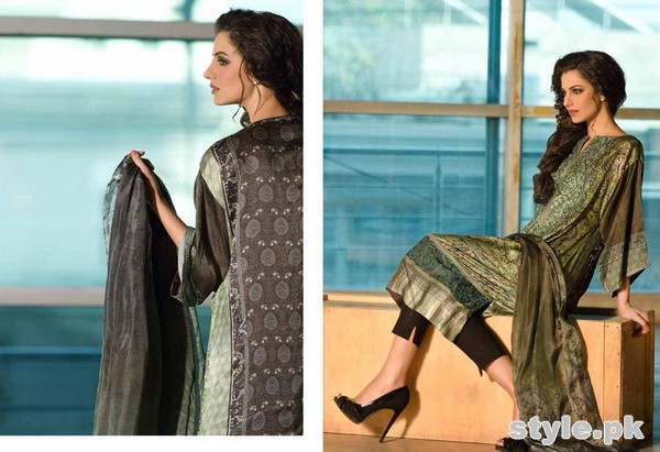 Sobia Nazir Silk Dresses 2014-15 For Women 1