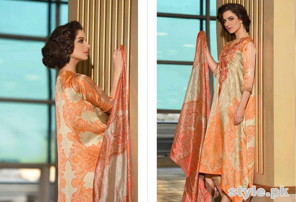 Sobia Nazir Silk Dresses 2014-15 For Women 7