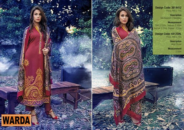 Warda Designer Winter Dresses 2014 Volume 2 For Women 0012