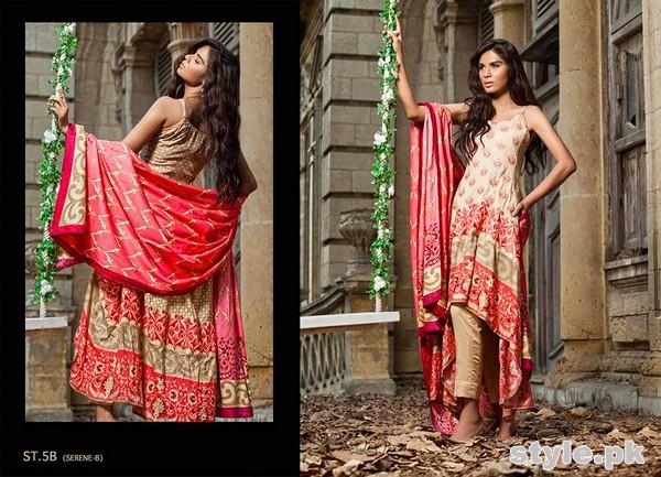Zainab Chottani Winter Dresses 2014 by Shariq Textiles 1