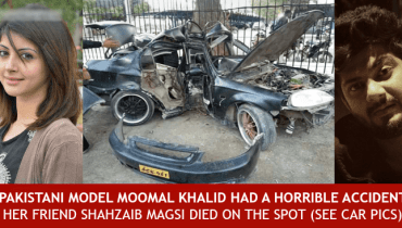 Moomal Khalid and Shahzaib Magsi Car Accident