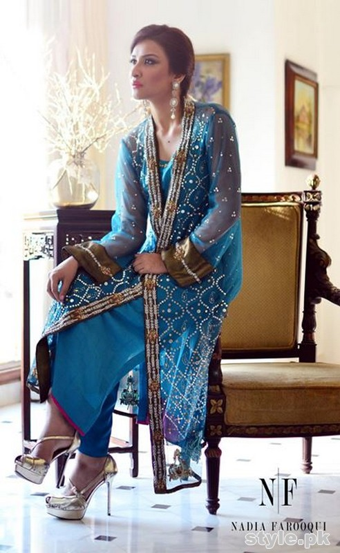 Nadia Farooqui Party Dresses 2015 For Girls 4
