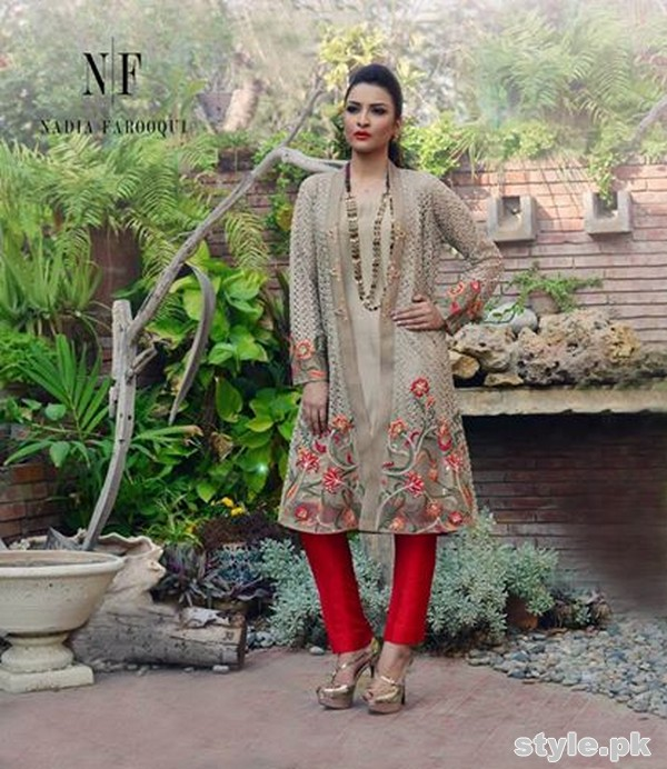 Nadia Farooqui Party Dresses 2015 For Girls 5