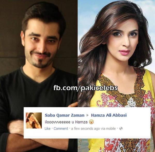 hamza ali abbasi and saba qamar couple