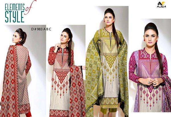 Ajwa Textile Chiffon Collection 2015 Volume 1 For Women