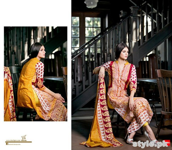 Riwaj Lawn Dresses 2015 by Shariq Textiles 9