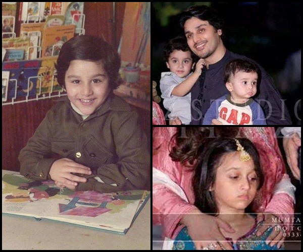 Photos Of Pakistani Celebrities And Their Kids In Childhood