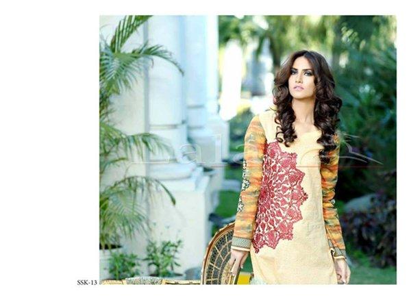 Lala Textiles Sana & Samia Collection 2015 Volume 2 For Women 0011